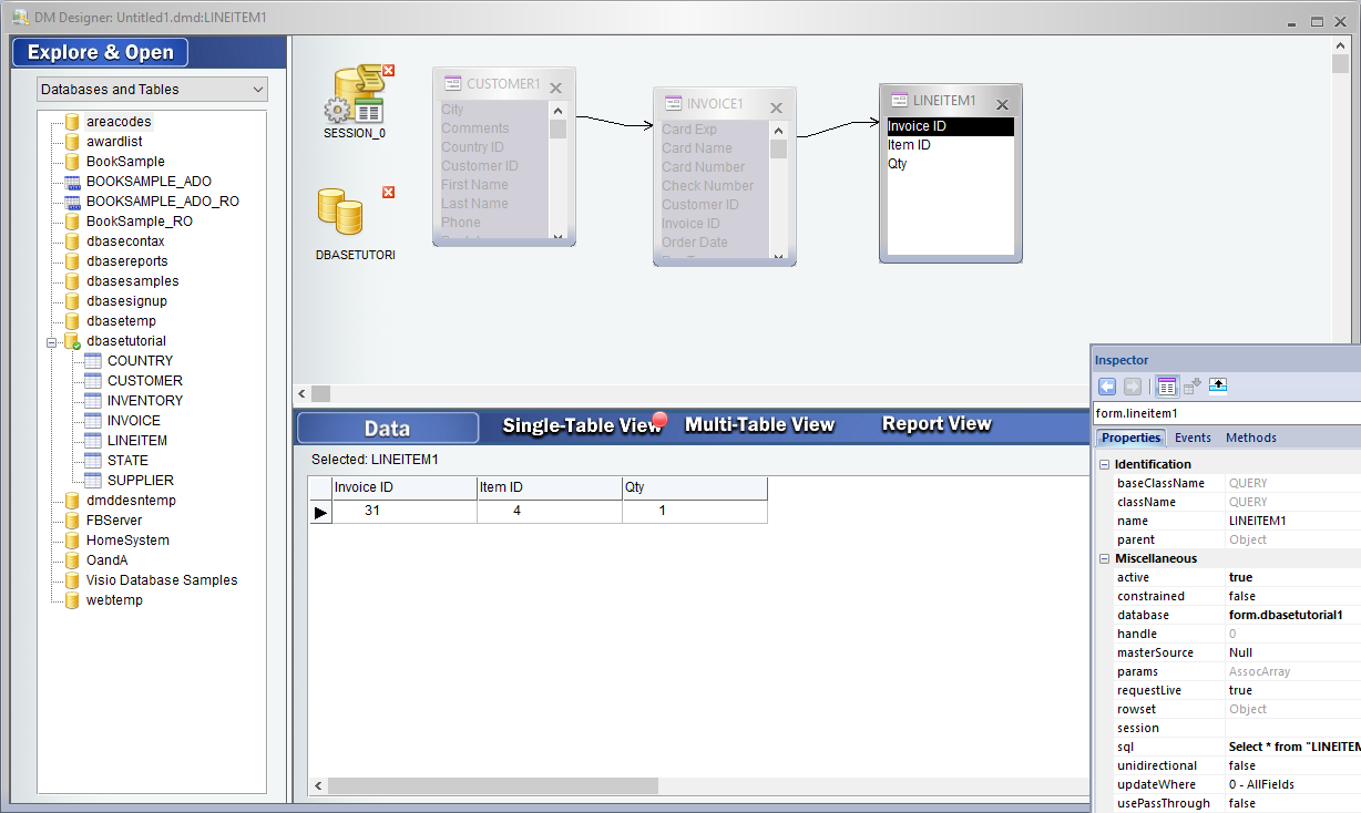 The dBASE™ PLUS Tutorial: Developing a Database Application