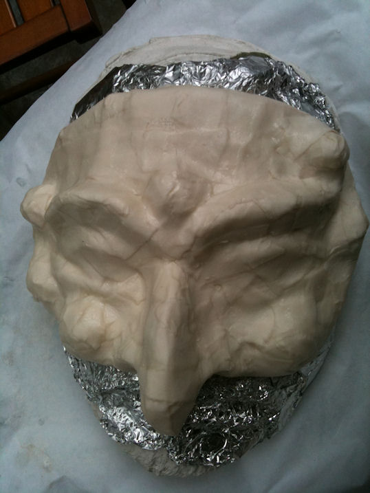 Paper Clay Mask Clay of Mask on Top of